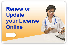Renew or Update your License Online
